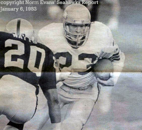 copyright Norm Evans� Seahawks Report January 6, 1983